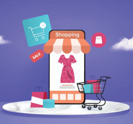 Free Ecommerce Illustrations: shopping online store for sale mobile ecommerce