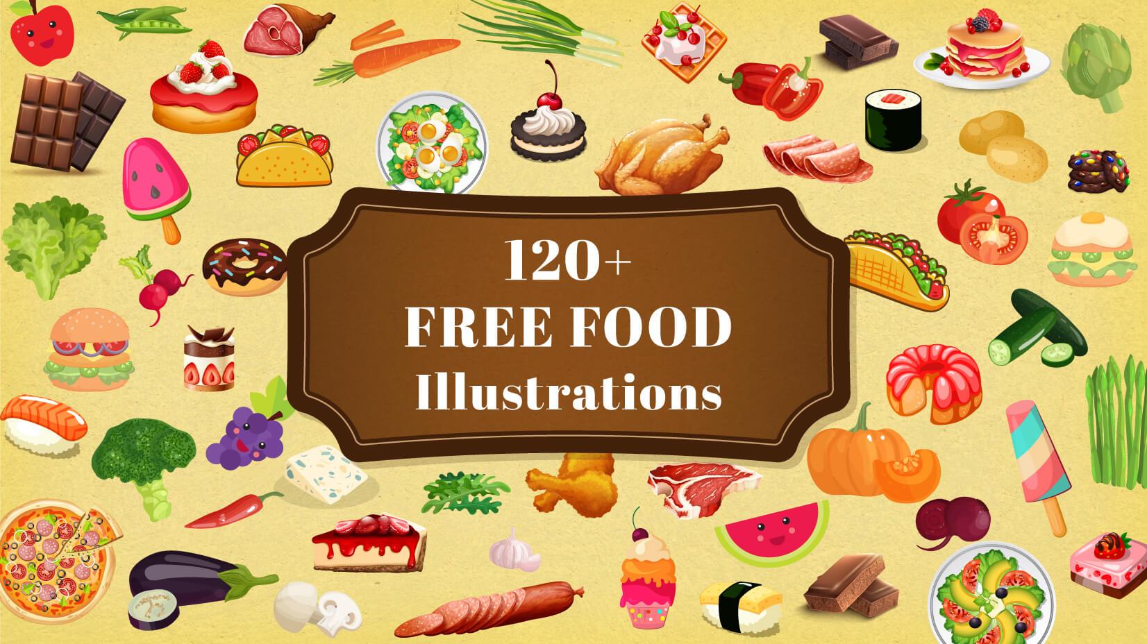 Best 120+ Free Food Illustrations