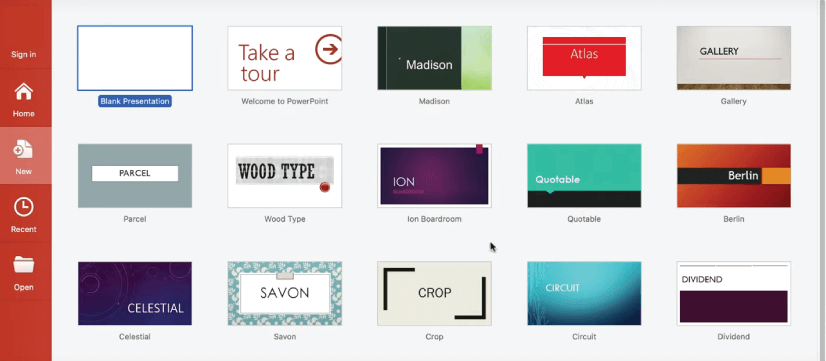 Get Started with PowerPoint: templates