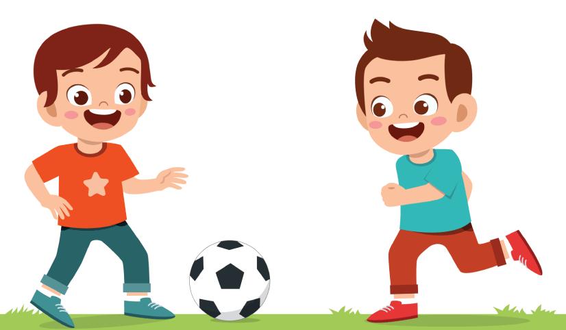 50 Free Cartoon Kid Characters: 1. Free Cartoon Kid Characters Playing Soccer