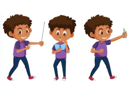 50 Free Cartoon Kid Characters : 13. Free Cartoon Kid Character Poses Pack