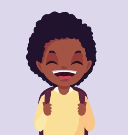 50 Free Cartoon Kid Characters : 16. Little Boy First Day of School Free Cartoon Vector