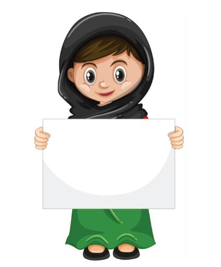 50 Free Cartoon Kid Characters : 27. Little Girl Character Free Presentation Vector