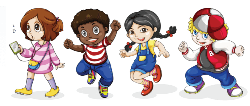 50 Free Cartoon Kid Characters : 48. Preschool Characters Free Vectors