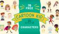 free cartoon kid characters