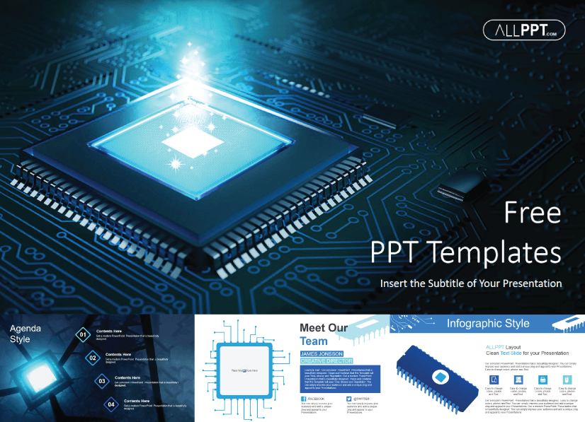 28 Free Technology PowerPoint Templates: Computer Hardware