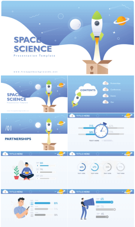 28 Free Technology PowerPoint Templates: Space Science