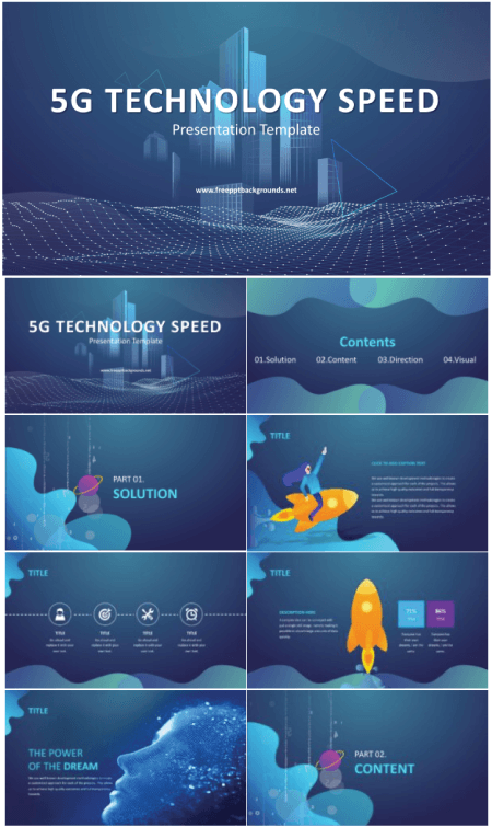 28 Free Technology PowerPoint Templates: 5G Technology