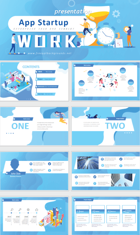 28 Free Technology PowerPoint Templates: App Startup