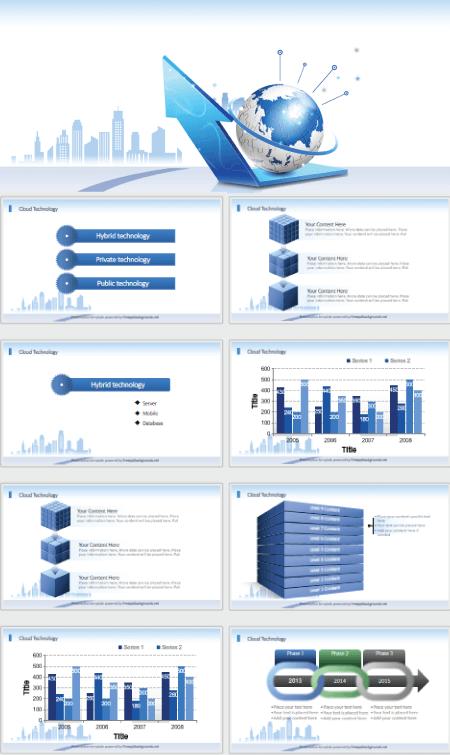 28 Free Technology PowerPoint Templates: Cloud Technology