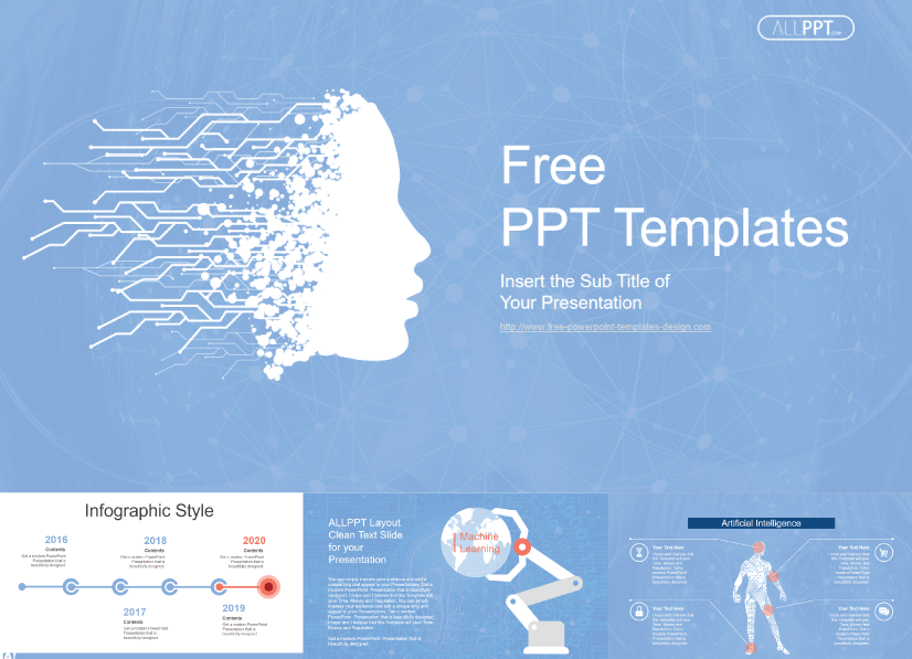 28 Free Technology PowerPoint Templates: Artificial Intelligence