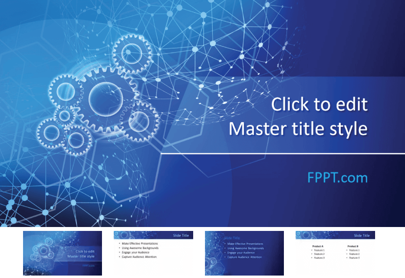 28 Free Technology PowerPoint Templates: Network