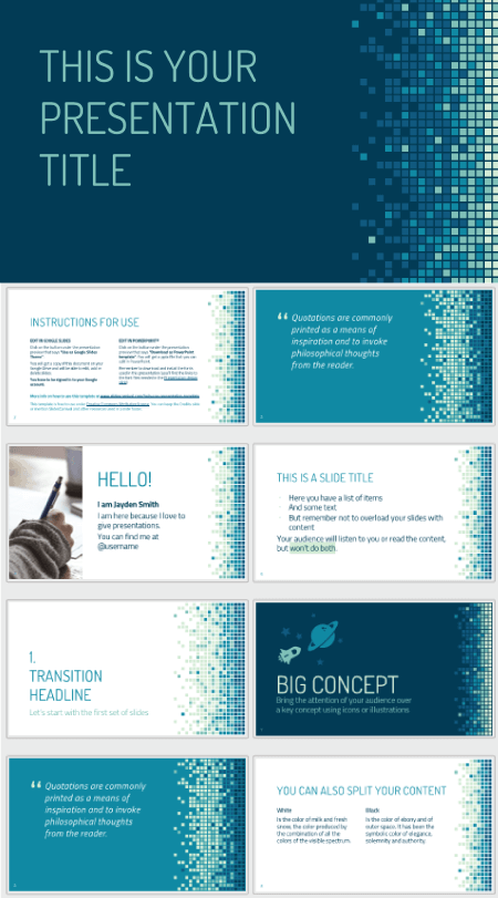 28 Free Technology PowerPoint Templates: Technology Pixels