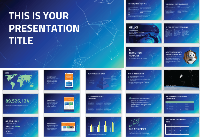 28 Free Technology PowerPoint Templates: Connections and Networking