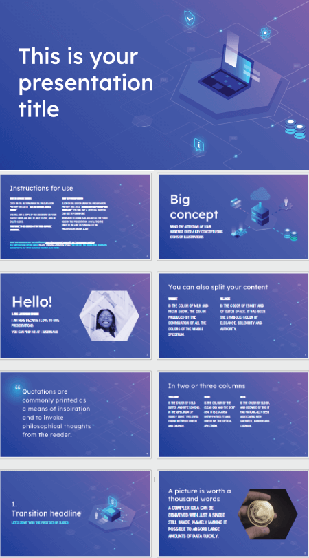 28 Free Technology PowerPoint Templates: Isometric