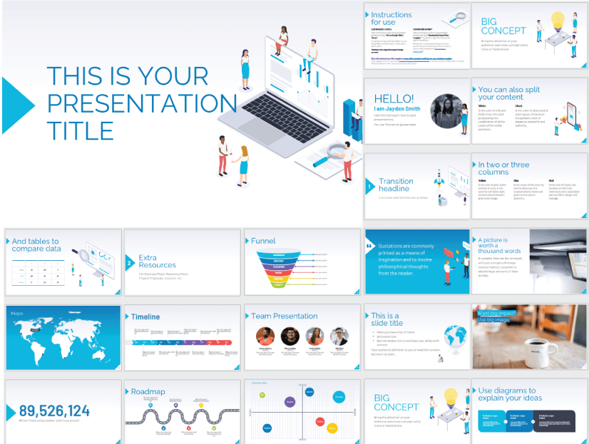 28 Free Technology PowerPoint Templates: Marketing and Technology