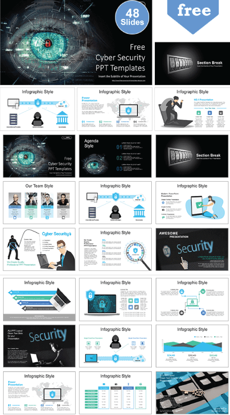 28 Free Technology PowerPoint Templates: Cyber Security