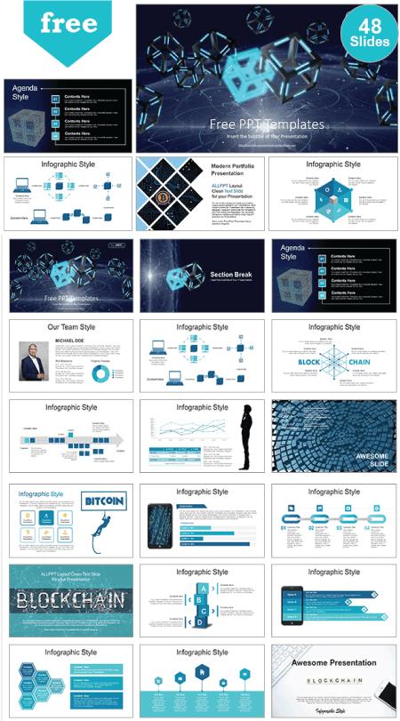 28 Free Technology PowerPoint Templates: BlockChain