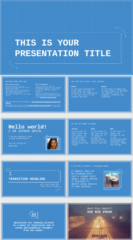28 Free Technology PowerPoint Templates: Technical Blueprint