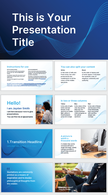 28 Free Technology PowerPoint Templates: Data Particles