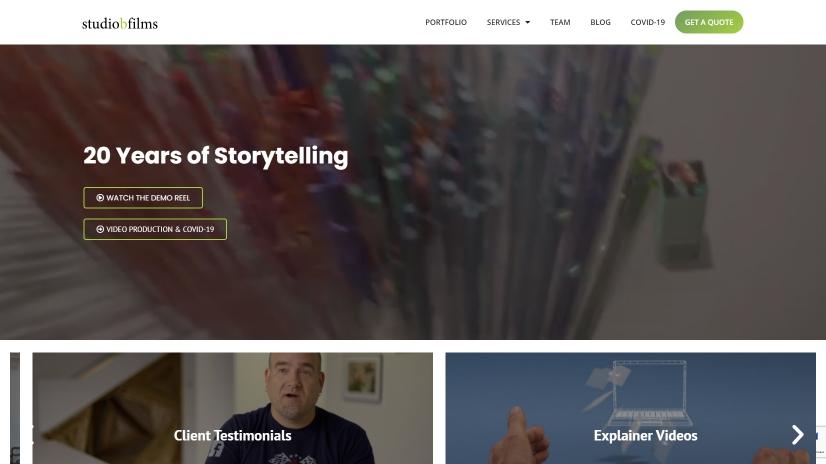studiobfilms.com - small business website design