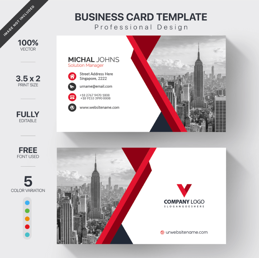 Free Business Card Templates 01