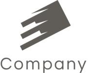 Company logo square black and white
