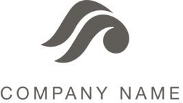Company logo black waves