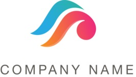 Company logo color waves
