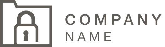 Company logo locker black