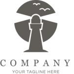 Business logo lighthouse black