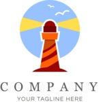 Business logo lighthouse color