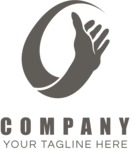 Business logo hand black