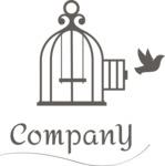 Company logo bird cage black