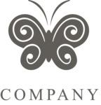 Business logo butterfly black