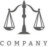 Business logo justice black