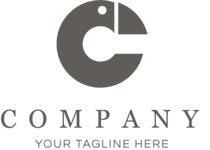 Company logo flamingo black