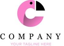 Company logo flamingo color