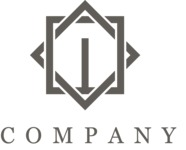Simple geometric business logo black
