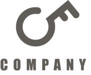 Company logo key black