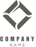 Business logo rhomboic black