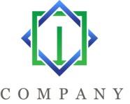 Simple geometric business logo color