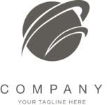Business logo planet black