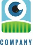 Company logo eye color