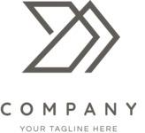 Elegant business logo black