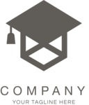 Business logo education black