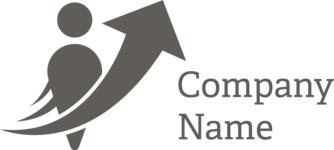 Business logo development black
