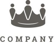 Company logo crown black