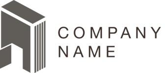 Business logo door black