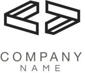 Business logo connection black